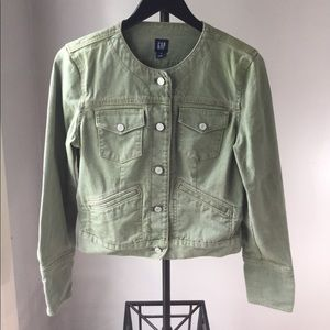 Gap green denim jacket, size medium
